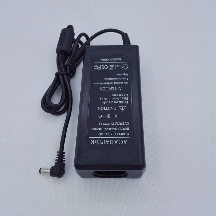弯头电源适配器,24v3A,电动开窗器电源,24V3000MA