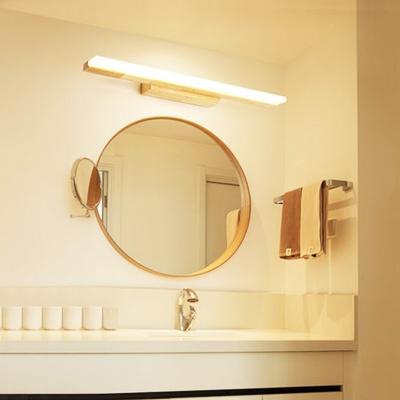 简约框条日式镜前灯