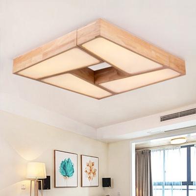 创意木质几何吸顶灯