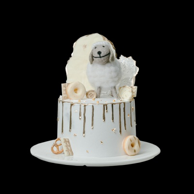 网红创意白羊星座可爱闺蜜女神款奶油水果生日蛋糕同城配送