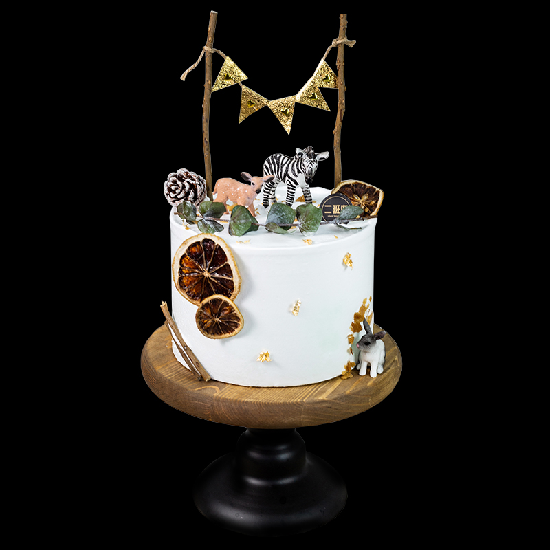 网红创意ins小鹿小兔子新鲜动物奶油水果生日蛋糕深圳同城配送