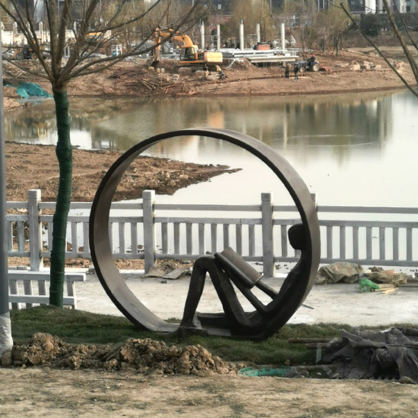 河南宏杰雕塑铸铜雕塑郸城大湖景观