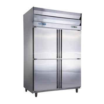 四門半藏半凍立式冰箱