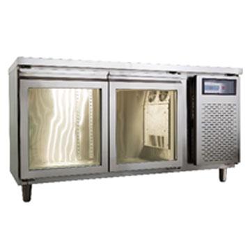 玻璃門工作台冷藏冰箱