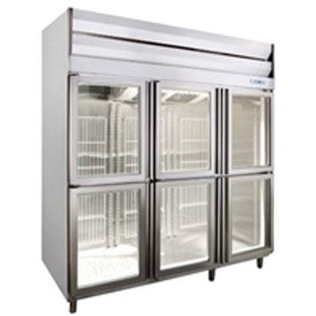 六門全凍展示冰箱