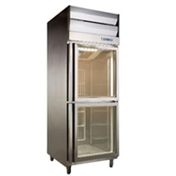 雙門半凍半藏展示冰箱