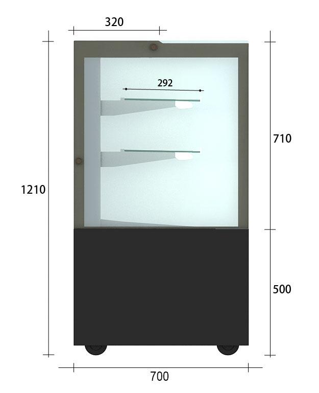 【CRYSTAL-4】直角冷藏櫃