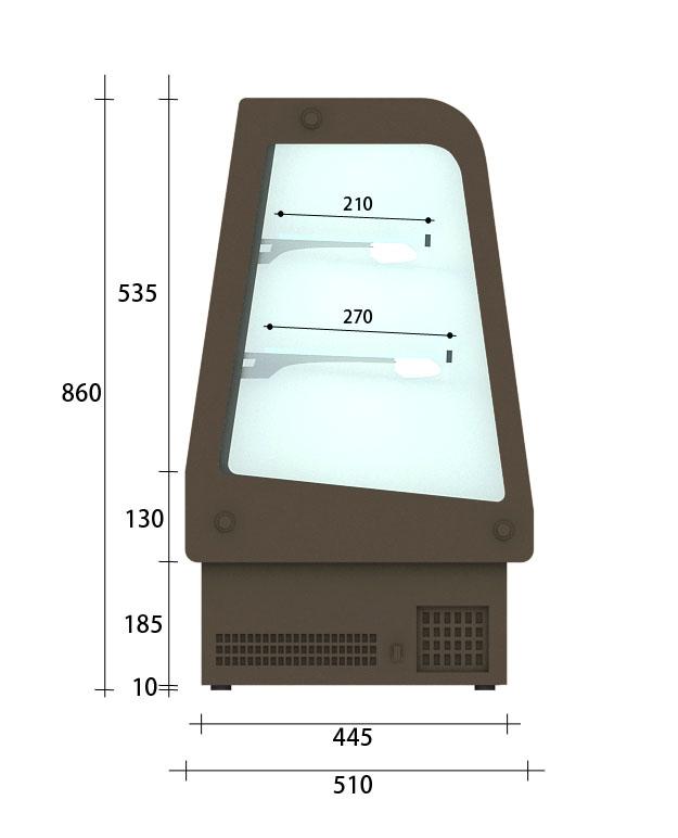【MINI-A】桌上型圓弧冷藏櫃