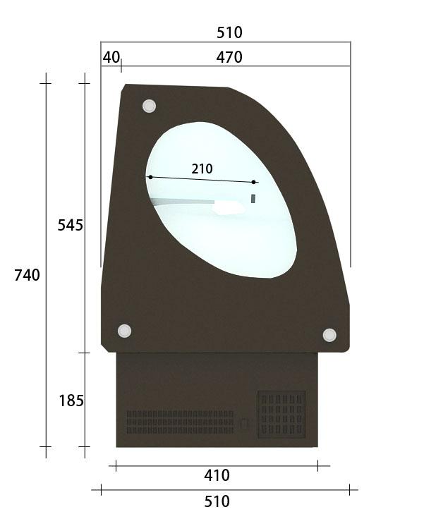 【Mini-B】桌上型圓弧冷藏櫃