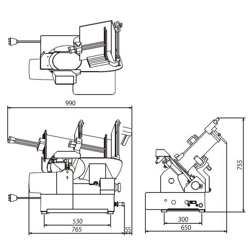 【WHSD-2C/3C】 渡邊全自動切肉機-德國刀片/日本電機/自動磨刀/鋁鎂合金外殼
