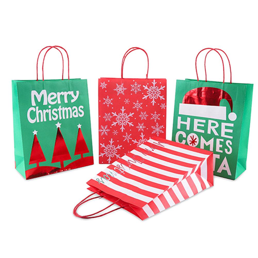 1pc-Creative-Christmas-Kraft-Paper-Gift-Bag-Kawaii