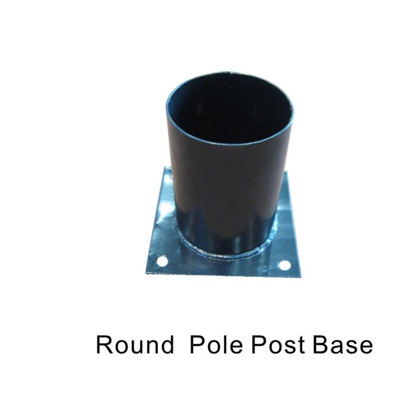 Round pole post base