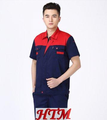 907藏藍紅肩