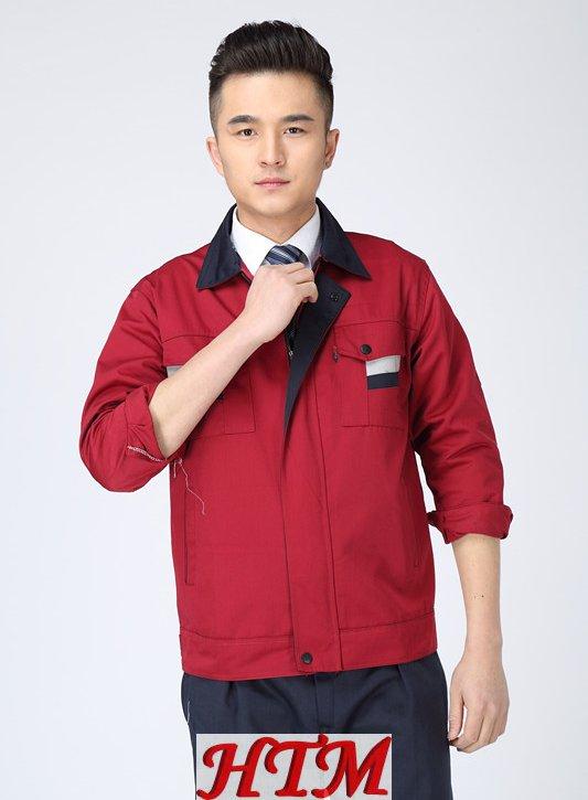801红色藏蓝领套装