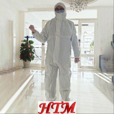 连帽连体防护服非医用普通一次性防护服HTM-CS KD-001