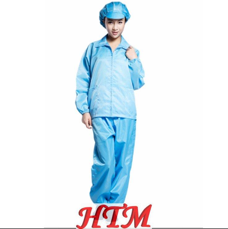涤纶面料防尘工业工作服防静电分体服防护服HTM CS SC-1002