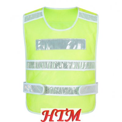 120克經編布反光背心馬甲安全服騎行交通駕駛員施工地反光衣環衛工人專用反光馬甲WH-RF017
