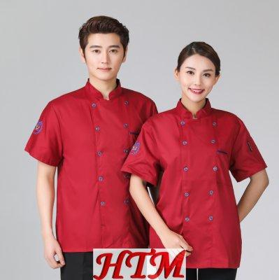 酒店餐飲廚房后廚廚師長短袖廚師服上衣HTM-CS HY-C0201010