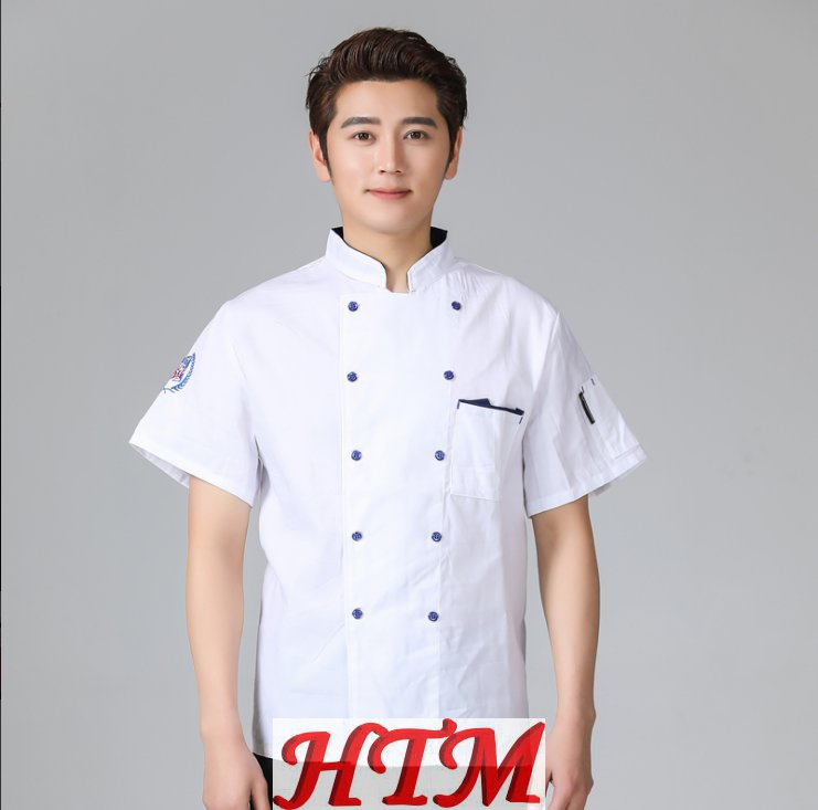 酒店餐饮厨房后厨厨师长短袖厨师服上衣HTM-CS HY-C0201010