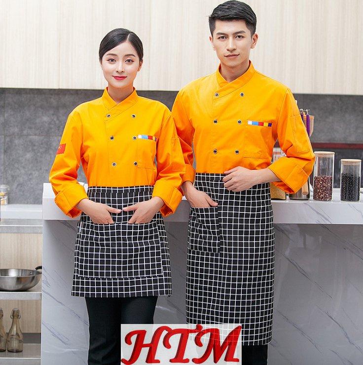 涤棉涤丝后厨厨师工作服 HTM-CS HY-C020204