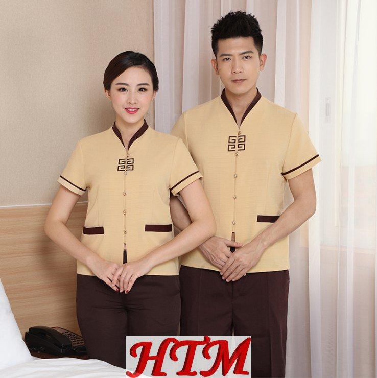酒店保洁短袖工作服HTM-CS 73-C0203014