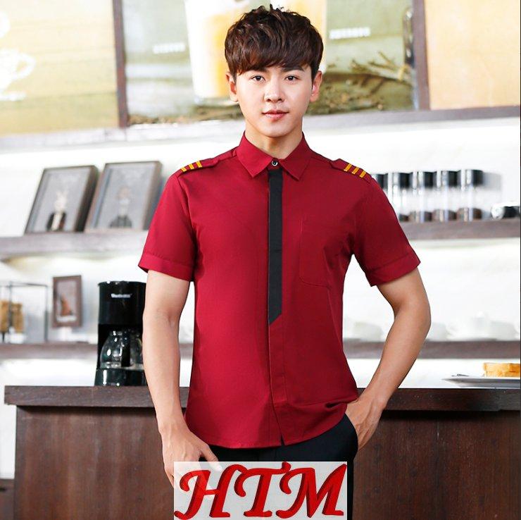 西餐厅饭店火锅店餐饮服装 男款 HTM-CS31 YB-1891