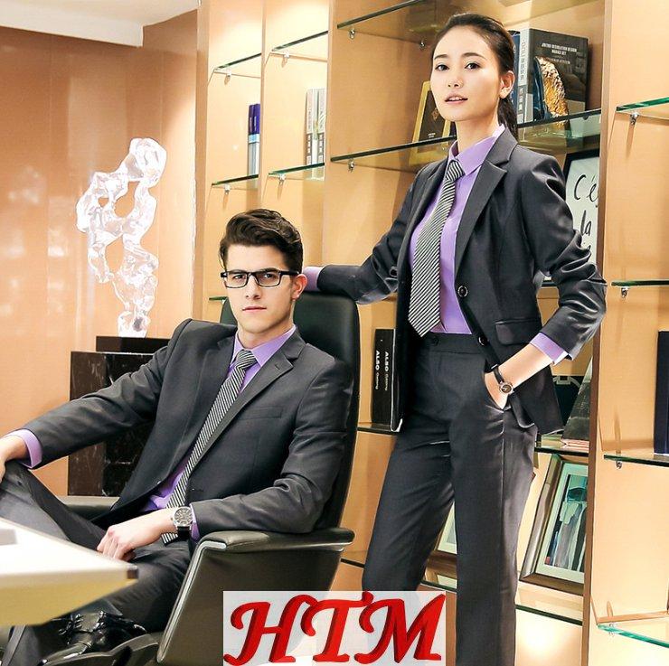 白领商务修身职业装男女两扣 HTM-S206 81-8836