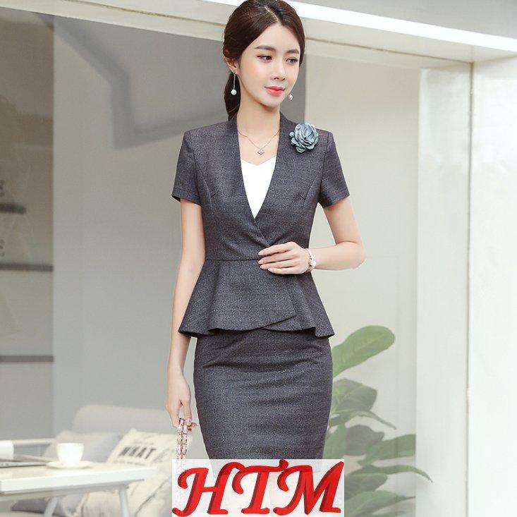 夏季新款职业装女套装时尚气质正装高端套裙HTM-S108 114-1320