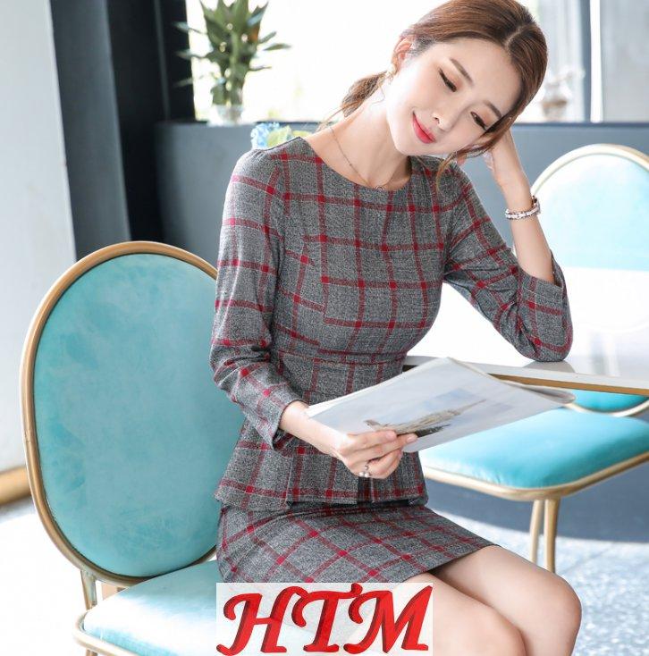 连衣裙修身韩半气质显瘦时尚潮流裙 HTM-S77 108-2003