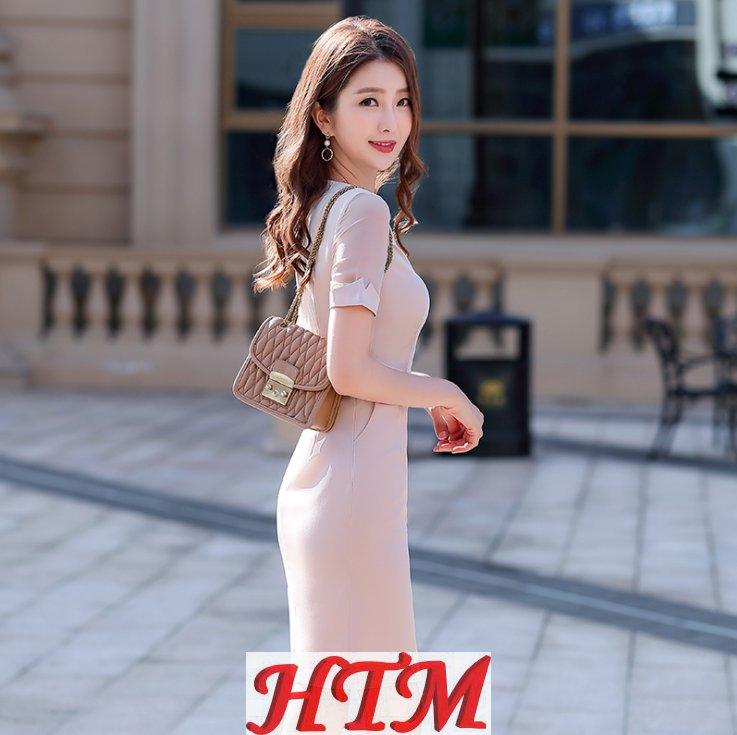 职业装女显瘦夏季短袖OL职业连衣裙 HTM-S66 108-633