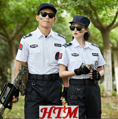 特勤服上衣白色夏短衬衫 HTM50-MB-C0110004