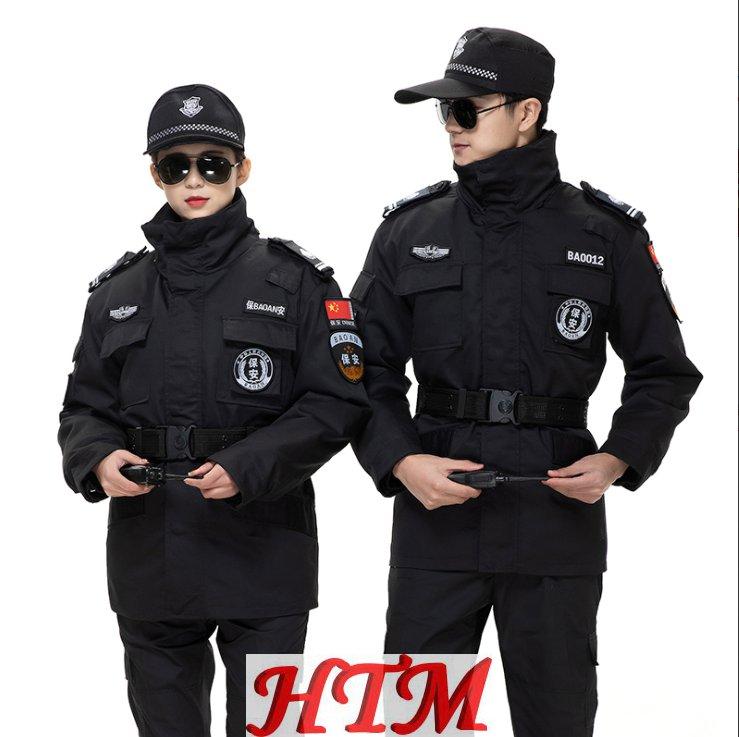 安保物业执勤制服工作服斜纹特勤棉服HTM170-C0110004