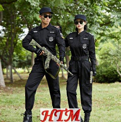 安保物业执勤特勤服套装斜纹冬 HTM72-C0110005