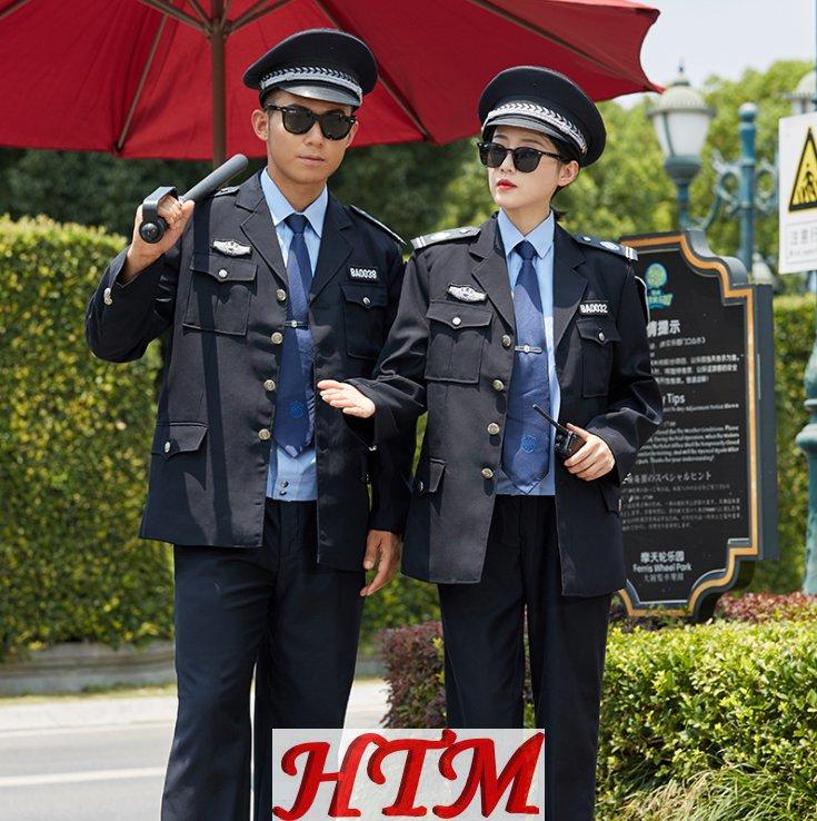 安保物业执勤保安服套装藏青西装款HTM80-C0110014