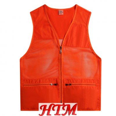 帶口袋漁網馬甲志愿者團體服HTM19-862