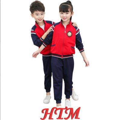 儿童校服运动装棉毛圈幼儿园园服套装HTM-S42 36-6827