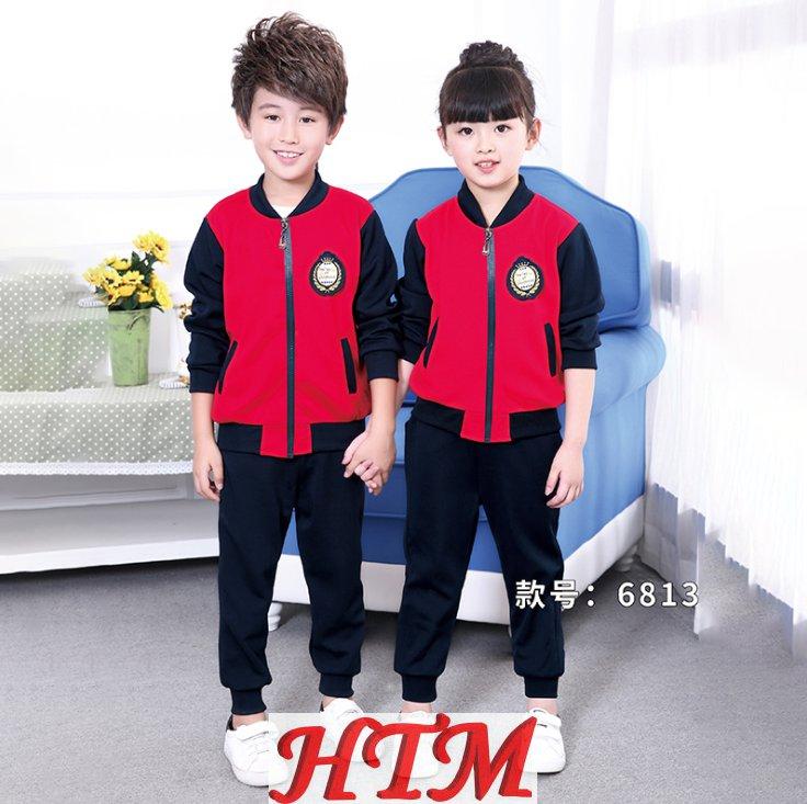儿童套装纯棉校服运动装幼儿园园服套装HTM-S40 36-6813