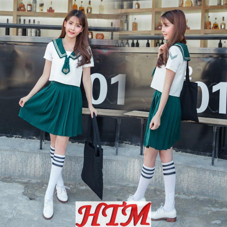 女生英伦学院风套装校服班服深绿套装HTM-S61 150-C0304018