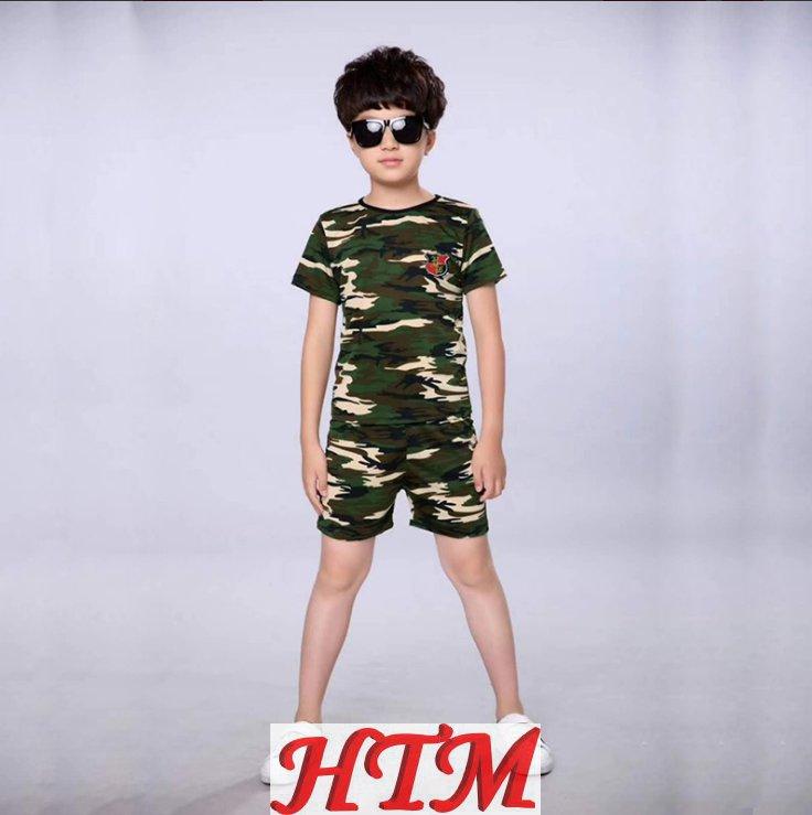 迷彩军训服短袖短裤套装春秋学生军训服HTM-S31 152-NM002