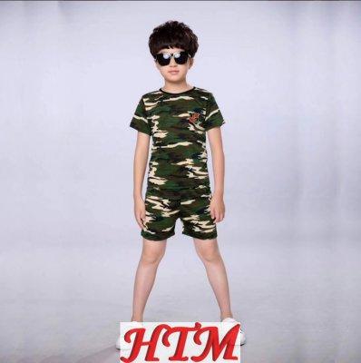 迷彩軍訓服短袖短褲套裝春秋學生軍訓服HTM-S31 152-NM002