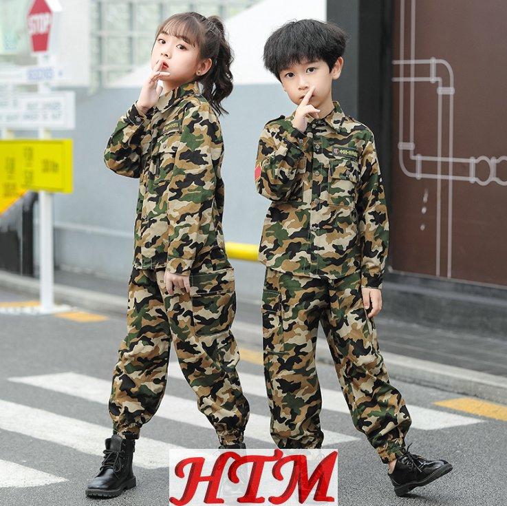 长袖迷彩校服套装翻领春秋季两件套套装HTM-S60 209-1923