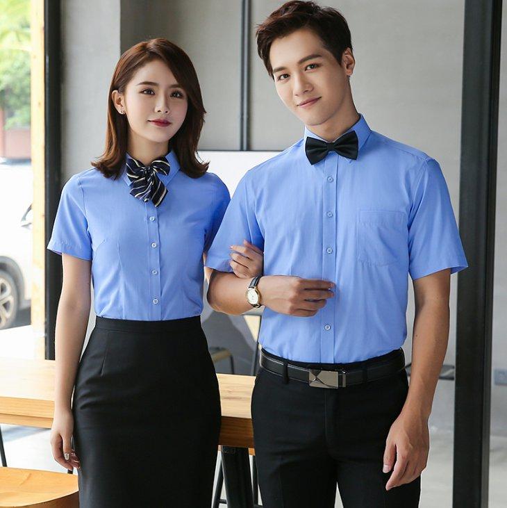大斜纹职业短袖衬衫男女款 C-180-777.138