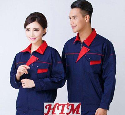 全工艺涤棉厚纱卡长袖工装套装C-54-SDF-W6801-W6803