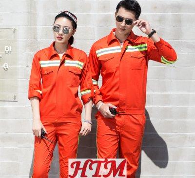 涤棉长袖工装套装C62-HT-1135