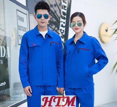 全工艺全棉纱卡纯色长袖工装套装C72-SDF-C1101-C1103