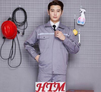 半工艺涤棉反光条长袖工装套装C47-137-D010202