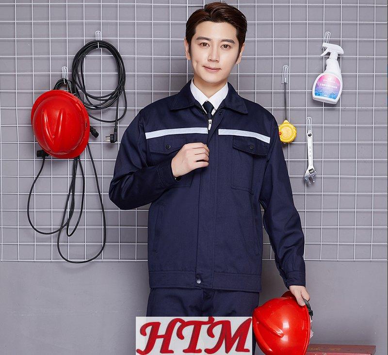 半工藝滌棉反光條長袖工裝套裝C47-137-D010202