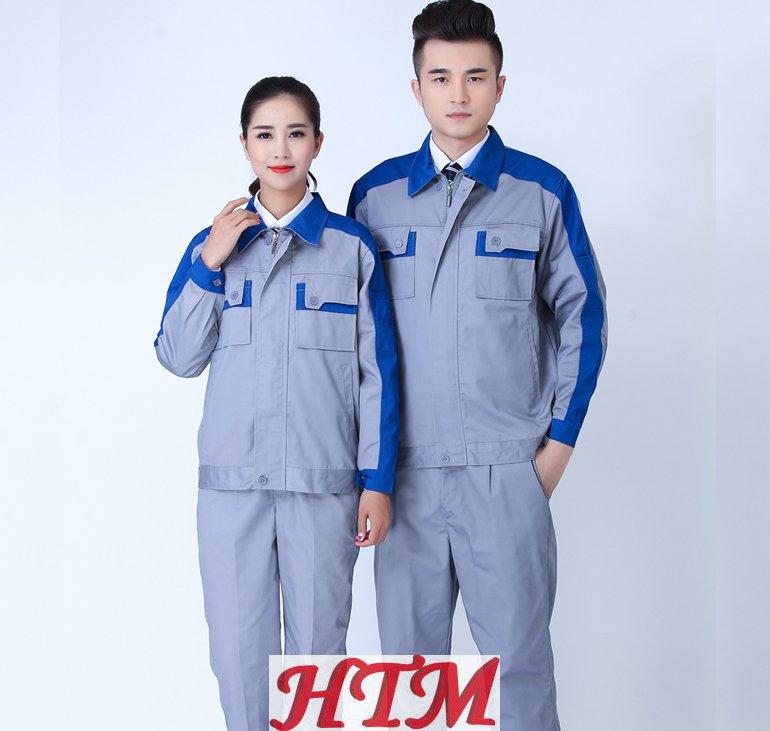 全工藝滌棉厚沙卡秋冬長袖工程服套裝 HTM-CS61-142-042