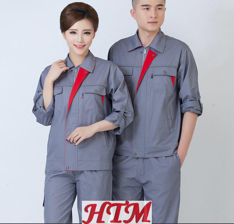 涤棉细斜纹长袖工装套装HTM-CS51-HT-1123