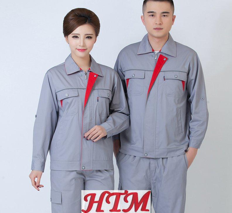 滌棉細斜紋長袖工裝套裝HTM-CS51-HT-1123